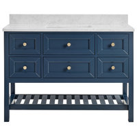 Elma Midnight Blue Bathroom Vanity, 48""