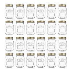 Kilner Preserve Jars, 0.5 L, Transparent, Set of 24
