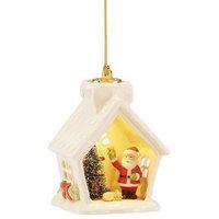 Light-Up Santa House Ornament by Lenox
