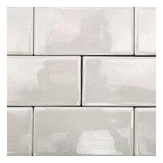 "Delphi Subway 3""x6"" Ceramic Tile (4 sqft/ box), Glacier White"