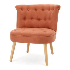 gdfstudio donna plush modern tufted accent chair orange armchairs and accent chairs