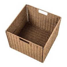 Foldable Storage Basket, Iron Wire Frame Set of 4