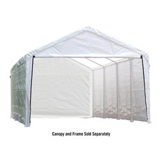 Canopy Enclosure Kit 12 x 30 ft Fits 2 in Frame, Cover and Frame Sold Separately