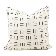 """Ece African Mud Cloth Pillow, 24""""x24"""", Zipper, Cover Only"""