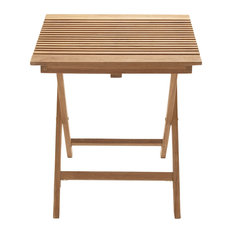 Great Outdoors Wood Teak Folding Table, Natural Wood Brown