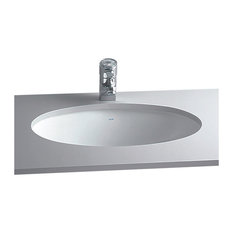 "Cheviot Products Oval Undermount Sink, 17 1/2"", White"