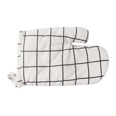 Blancho Bedding - Creative Baking Heat-Resistant Simple Style Gloves, White Lattice - Oven Mitts and Pot Holders