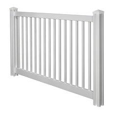 WamBam Fence Inc. - 4'x7' Premium Yard & Pool Vinyl Fence Panel w/ Post & Cap - Home Fencing and Gates
