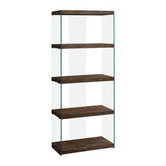 Monarch Reclaimed Wood-Look Bookcase Brown