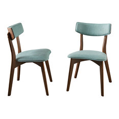 GDFStudio   Molly Mid Century Modern Dining Chairs, Set Of 2, Mint, Natural