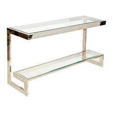 Charming Worlds Away   Worlds Away, Noho Low Console Table, Noho Console, Nickel