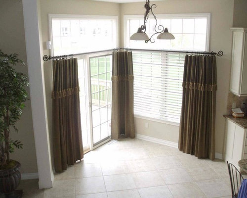Window Treatments For Kitchens With Large Windows - Draperies and ...