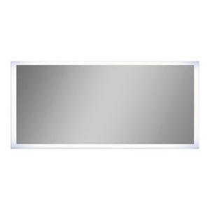 """IB MIRROR Dimmable Lighted Bathroom Mirror, 28"""" X 48"""", Rectangle"""