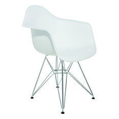 Ray Dining Chair White Silver