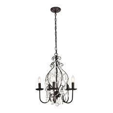 "Elegant Lighting LD5003D17 Blaise 5 Light 17"" Wide Taper Candle Chandelier"