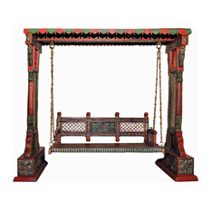 Jaisalmer Jharokha Design Wooden Carved Royal Swing Set/Indoor Jhula