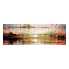 """Painted Sunset"" Fine Art Canvas Print, 60""x20"""