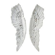 Maisons du monde - Decoración de pared alas de ángel Al. 105 cm GABRIELLE - Decoración festiva para exteriores