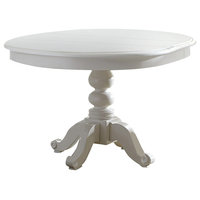 Liberty Furniture Summer House Round Pedestal Table, Oyster White 607-4254