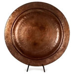 IMAX Worldwide Home - Copper-Plated Charger With Stand - *Please Note*
