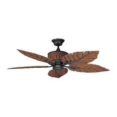 Top tropical ceiling fans deals houzz concord fans 52 fernleaf breeze damp location ceiling fan rustic iron ceiling aloadofball Image collections