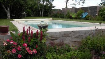 Réalisation terrasse, jardin et piscine coque