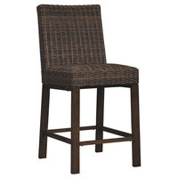 Barstool in Medium Brown - Set of 2