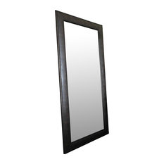 "Marcello Full Floor Rustic Charcoal Brown Mirror, 32""x68"""