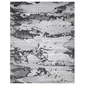 Nourison Divine Hand-Knotted Smoke Rug, 259x351 Cm