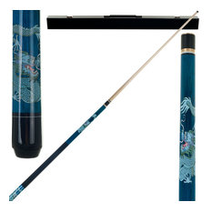 Blue Dragon 2 Piece Billiard Cue Stick with Case by Trademark Gameroom