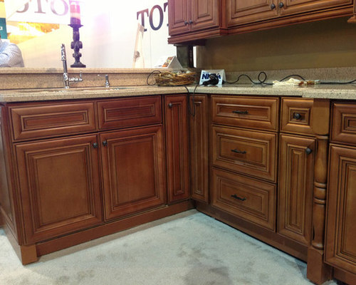 ... Chestnut Pillow Kitchen Cabinets | Kitchen Cabinet Kings On White  Cabinet, Halifax Cabinet, ...