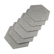 "10""x11.5"" Moonstone Hexagon Porcelain Floor/Wall Tile, Set of 18, Gray"