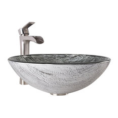 vigo industries vigo titanium glass vessel bathroom sink and niko faucet set bathroom sinks