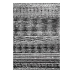 "Casual Modern Area Rug, Dark Gray, 5'x7'5"""