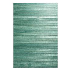 Kumi Green Grasscloth Wallpaper, Bolt