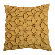 Rizzy Home Decorative Pillow, Yellow