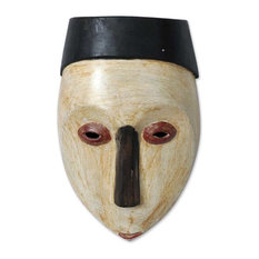 Novica Virgin Forest Congolese Wood African Mask