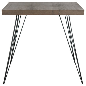 Safavieh Adam Lacquer Accent Table, Chocolate and Black