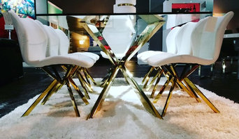 Attrayant Cross Dining Table U0026 Chairs   Gold