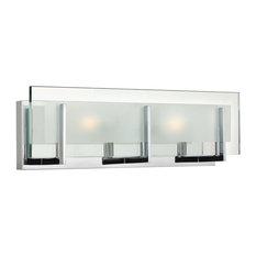 Latitude 2-Light Bath Vanity, Chrome, Clear Beveled/Etched Glass