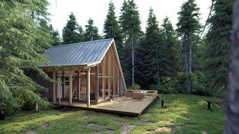 3D-Visualisierung Tinyhaus im Wald