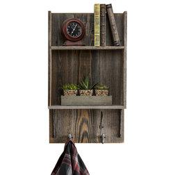 Farmhouse Bathroom Shelves by Del Hutson Designs