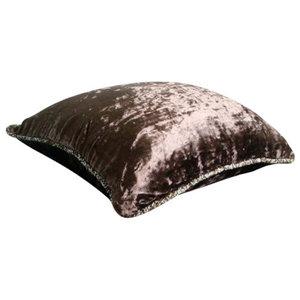 Dark Chocolate Shimmer, Brown Velvet 50x50 Decorative Cushion Covers