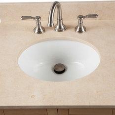 """25"""" Marble Vanity Sink Top, Top: Galala Beige Marble"""
