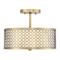 50 most popular flush mount ceiling lights with a fabric shade for bay circle pattern drum shade 2 bulb ceiling light natural brass flush aloadofball Choice Image