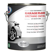 Garage Floor Urethane Coating, Clear Low Gloss, Ready to Use - 1 Gallon