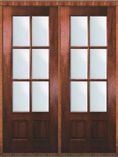 6 lite french doors for Prehung patio doors