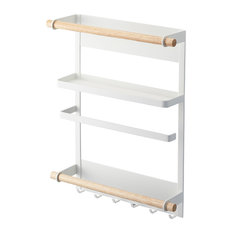 Tosca Magnetic Kitchen Organization Rack White