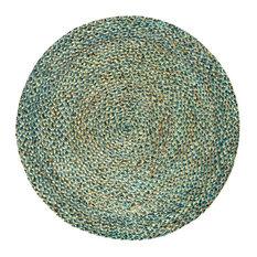 Spectrum Braided Round Jute Rug, Natural, 150 cm
