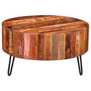 VidaXL Reclaimed Solid Wood Round Coffee Table